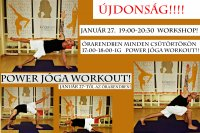 Power jóga workout! Szerda 20:00-21:00-ig!